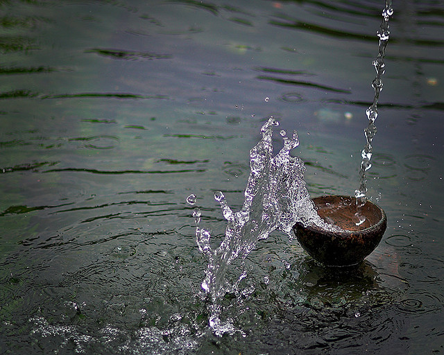 Fountain cup overflows by  Spookygonk is licensed under CC BY NC ND 2.0