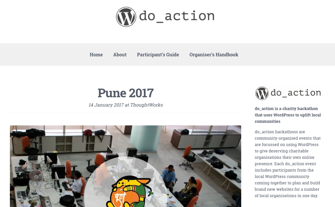 Do_action.org – The WordPress Hackathon for Charity comes to Pune!