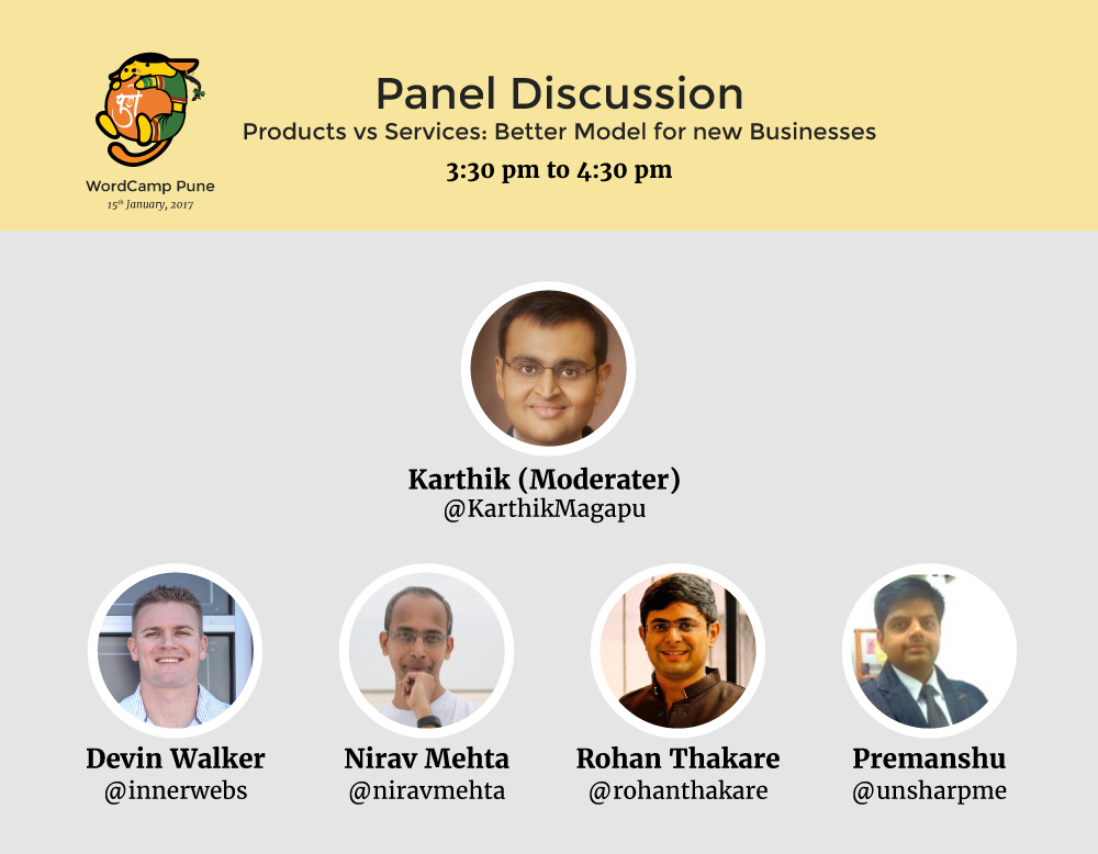 Our panelists will try to solve your Product vs Service dilemma